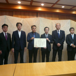 京都府へコロナ対策活動への寄付を行いました。